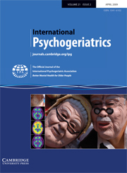 International Psychogeriatrics Volume 21 - Issue 2 -