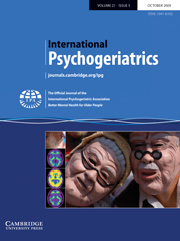 International Psychogeriatrics Volume 21 - Issue 5 -