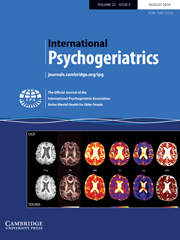 International Psychogeriatrics Volume 22 - Issue 5 -