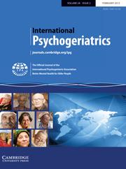 International Psychogeriatrics Volume 24 - Issue 2 -