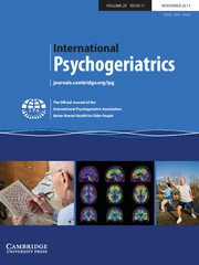 International Psychogeriatrics Volume 25 - Issue 11 -