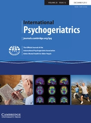 International Psychogeriatrics Volume 25 - Issue 12 -
