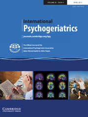 International Psychogeriatrics Volume 25 - Issue 4 -