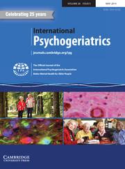 International Psychogeriatrics Volume 26 - Issue 5 -
