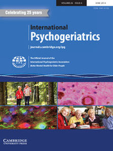 International Psychogeriatrics Volume 26 - Issue 6 -