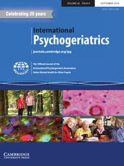 International Psychogeriatrics Volume 26 - Issue 9 -