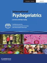 International Psychogeriatrics Volume 27 - Issue 6 -