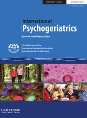 International Psychogeriatrics Volume 28 - Issue 11 -