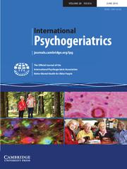 International Psychogeriatrics Volume 28 - Issue 6 -