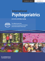 International Psychogeriatrics Volume 29 - Issue 11 -