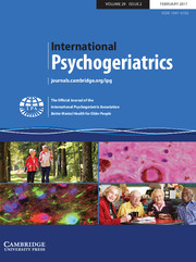 International Psychogeriatrics Volume 29 - Issue 2 -