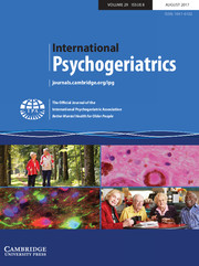 International Psychogeriatrics Volume 29 - Issue 8 -