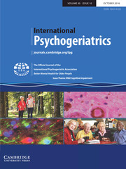 International Psychogeriatrics Volume 30 - Issue 10 -  Issue Theme: Mild Cognitive Impairment