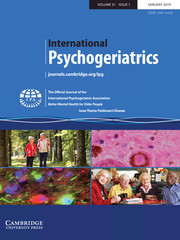 International Psychogeriatrics Volume 31 - Issue 1 -  Issue Theme: Parkinson's Disease
