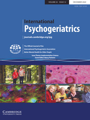International Psychogeriatrics Volume 32 - Special Issue12 -  Issue Theme: Implementation Science