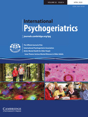 International Psychogeriatrics Volume 32 - Issue 4 -  Issue Theme: Serious Mental Illnesses in Older Adults