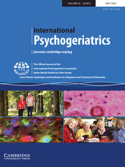 International Psychogeriatrics Volume 32 - Issue 5 -  Issue Theme: Challenges and Facilitators for Diagnosis and Treatment of Dementia