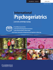 International Psychogeriatrics Volume 32 - Issue 6 -  Issue Theme: Interaction of Depression and Cognition in Older Age