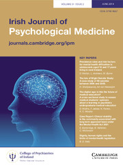 Irish Journal of Psychological Medicine Volume 31 - Issue 2 -