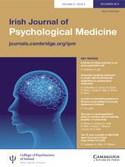 Irish Journal of Psychological Medicine Volume 31 - Issue 4 -