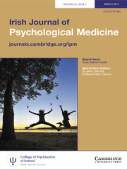 Irish Journal of Psychological Medicine Volume 32 - Issue 1 -  Special Issue: Youth Mental Health