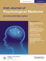 Irish Journal of Psychological Medicine Volume 33 - Issue 3 -