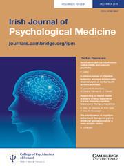 Irish Journal of Psychological Medicine Volume 33 - Issue 4 -