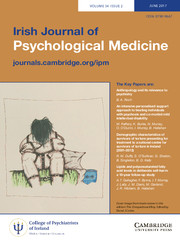 Irish Journal of Psychological Medicine Volume 34 - Issue 2 -