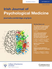 Irish Journal of Psychological Medicine Volume 34 - Issue 3 -