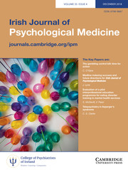 Irish Journal of Psychological Medicine Volume 35 - Issue 4 -