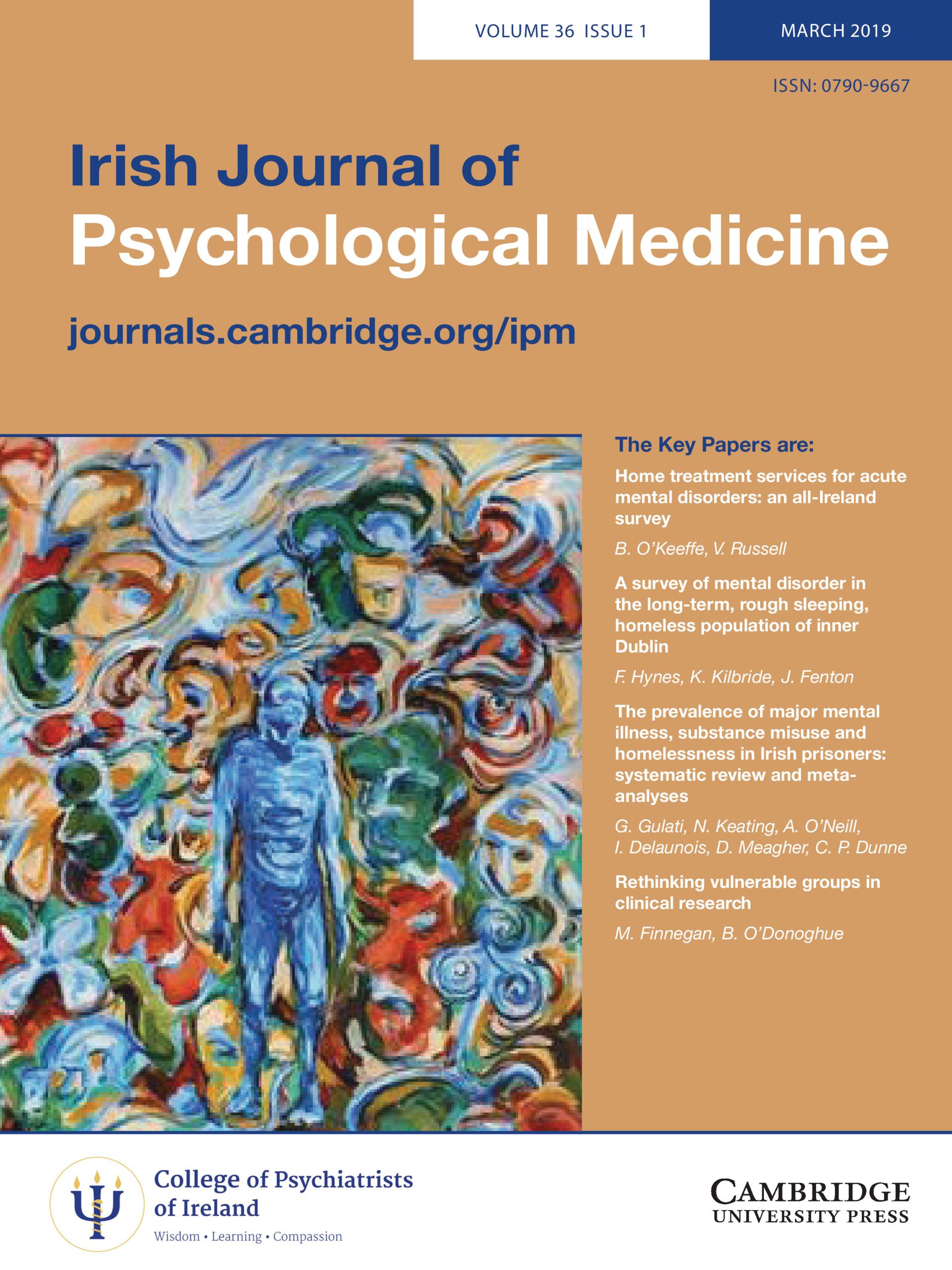 Irish Journal of Psychological Medicine: Volume 36 - Issue 1