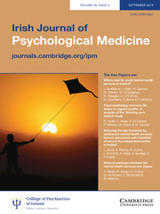 Irish Journal of Psychological Medicine Volume 36 - Issue 3 -