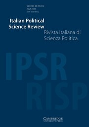 Italian Political Science Review / Rivista Italiana di Scienza Politica Volume 50 - Issue 2 -