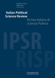 Italian Political Science Review / Rivista Italiana di Scienza Politica Volume 51 - Issue 1 -