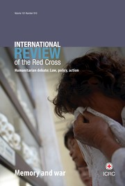 International Review of the Red Cross Volume 101 - Issue 910 -  Memory and war
