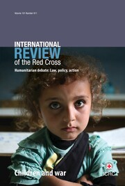 International Review of the Red Cross Volume 101 - Issue 911 -  Children and war