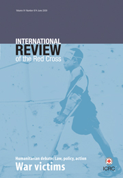 International Review of the Red Cross Volume 91 - Issue 874 -  War victims