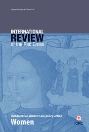 International Review of the Red Cross Volume 92 - Issue 877 -  Women