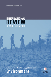 International Review of the Red Cross Volume 92 - Issue 879 -  Environment