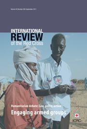 International Review of the Red Cross Volume 93 - Issue 883 -  Engaging armed groups