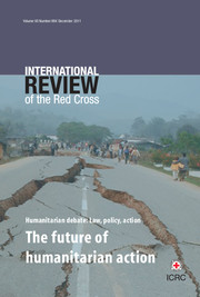 International Review of the Red Cross Volume 93 - Issue 884 -  The future of humanitarian action
