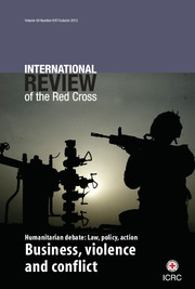 International Review of the Red Cross Volume 94 - Issue 887 -  Business, violence and conflict