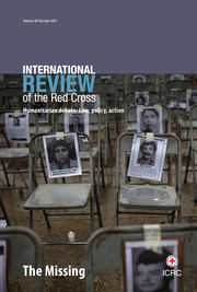 International Review of the Red Cross Volume 99 - Issue 905 -  The missing