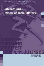 International Review of Social History Volume 48 - Issue 2 -