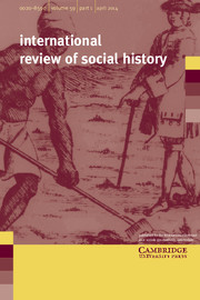 International Review of Social History Volume 59 - Issue 1 -