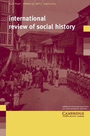 International Review of Social History Volume 59 - Issue 2 -