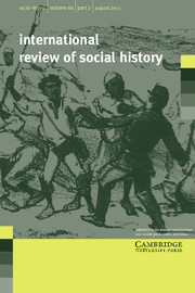 International Review of Social History Volume 60 - Issue 2 -