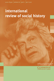 International Review of Social History Volume 61 - Issue 1 -