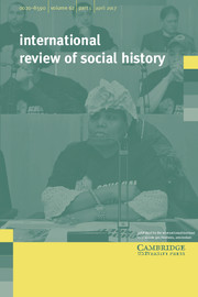 International Review of Social History Volume 62 - Issue 1 -