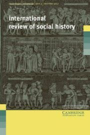 International Review of Social History Volume 62 - Issue 3 -